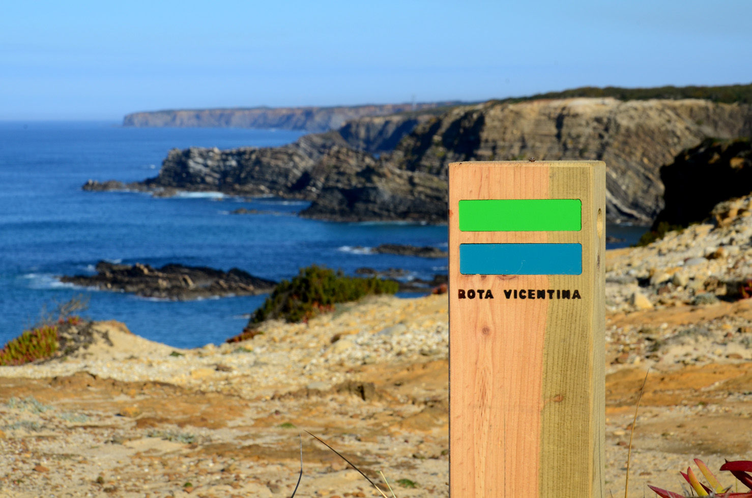 Walking the fisherman's trail on the Costa Vicentina with guide.